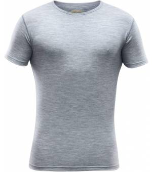Devold Breeze M Tee grey melange tričko