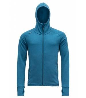 Devold Nibba M Jacket with Hood blue melange mikina