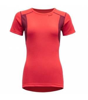 Devold Hiking W T-shirt poppy/beet tričko