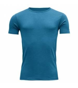 Devold Breeze M T-Shirt blue melange tričko