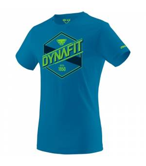 Dynafit Graphic Cotton M T-shirt mykonos blue/label tričko
