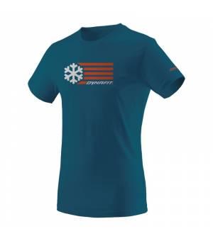 Dynafit Graphic Cotton M T-shirt petrol/flag tričko