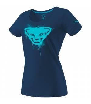 Dynafit Graphic Cotton W T-Shirt poseidon/stencil tričko