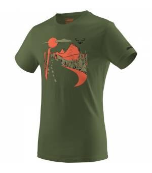 Dynafit Artist Series Cotton M T-shirt winter moss/summit tričko