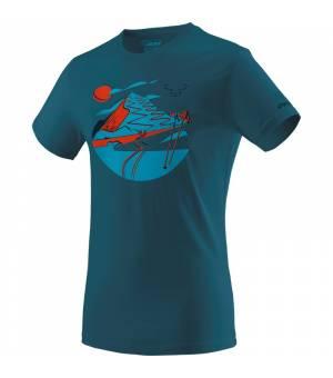 Dynafit Artist Series Cotton M T-shirt fjord/hike tričko