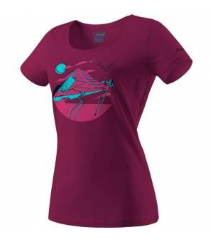 Dynafit Artist Series Cotton W T-shirt beet red/hike tričko