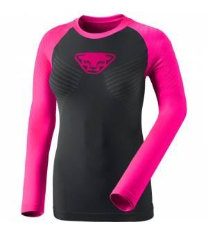 Dynafit Speed Dryarn Long Sleeve Shirt W Pink glo tričko