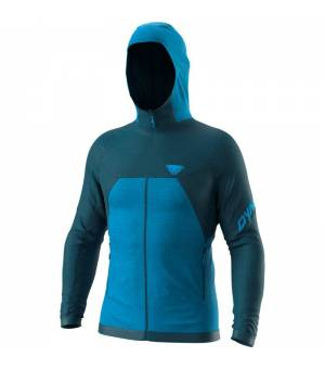 Dynafit Wool Thermal Hooded Jacket M Petrol mikina