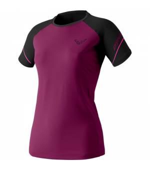 Dynafit Alpine Pro W T-Shirt black out beet red tričko