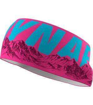 Dynafit Graphic Performance Headband pink glo/skyline čelenka