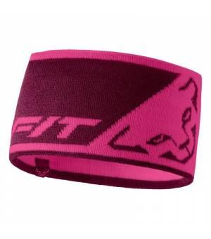 Dynafit Leopard Logo Headband flamingo čelenka