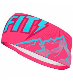 Dynafit Graphic Performance Headband fluo pink/peak čelenka