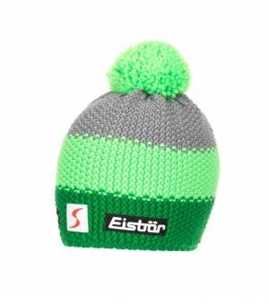 Eisbär Star Pompon MÜ SP kids čiapka zelená/šedá