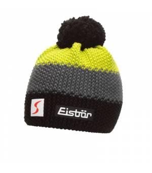 Eisbär Star Pompon MÜ SP kids čiapka čierna/žltá/biela