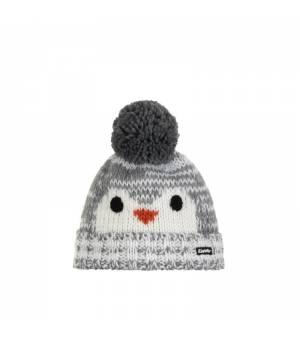 Eisbär Rico Pompon MÜ Kids cap grey white čiapka