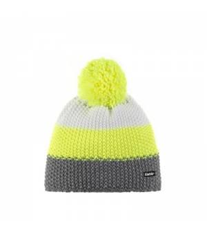 Eisbär Star Pompon MÜ Kids cap grey yellow white čiapka