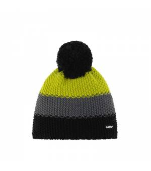 Eisbär Star Pompon MÜ Kids cap black grey yellow čiapka