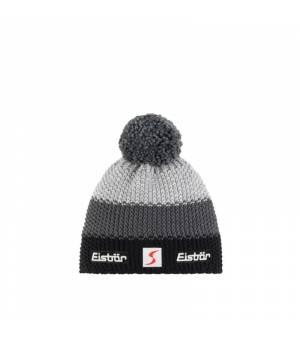Eisbär Star Pompon MÜ SP cap black grey čiapka