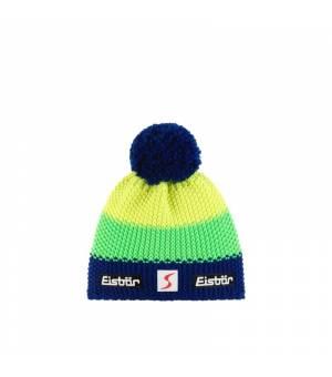 Eisbär Star Pompon MÜ SP cap blue green yellow čiapka