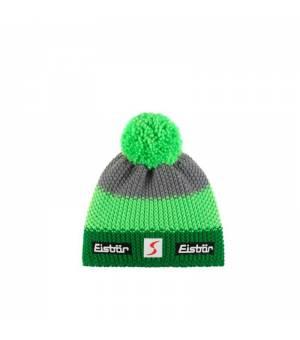Eisbär Star Pompon MÜ SP cup green grey čiapka