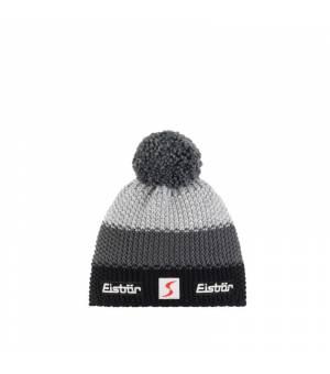 Eisbär Star Pompon MÜ SP Kids cap grey čiapka
