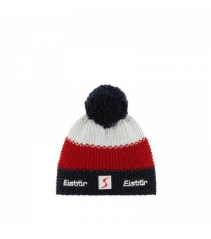 Eisbär Star Pompon MÜ SP Kids cap blue red white čiapka