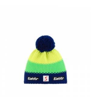 Eisbär Star Pompon MÜ SP Kids cap blue green yellow čiapka