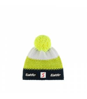 Eisbär Star Pompon MÜ SP Kids cap night blue yellow white čiapka