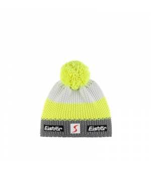Eisbär Star Pompon MÜ SP Kids cap grey yellow white čiapka