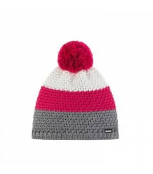 Eisbär Tibo Pompon MÜ cap grey pink white čiapka