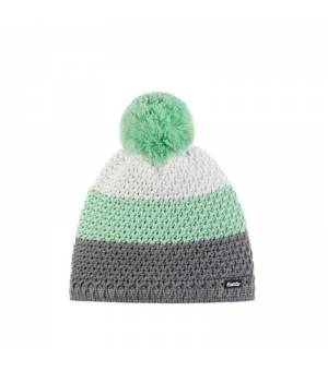 Eisbär Tibo Pompon MÜ cap grey green white čiapka