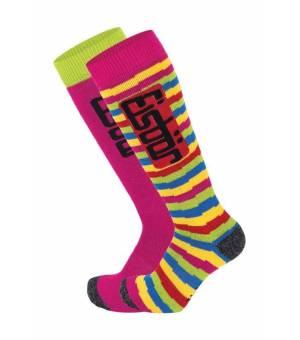 Eisbär JR Comfort 2 PA Ass pink striped ponožky