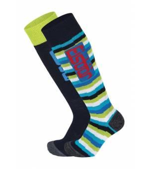 Eisbär JR Commfort 2 PA Ass black blue striped ponožky