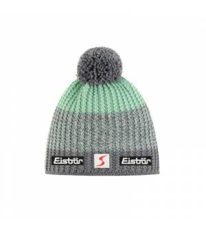 Eisbär Noni Pompon MÜ SP cup mint green grey čiapka