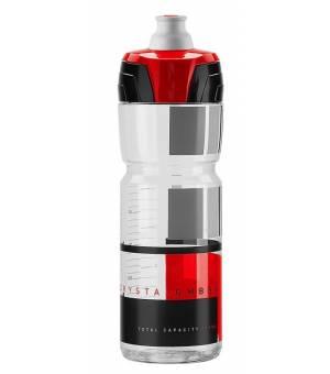 Elite Crystal Ombra fľaša na nápoje 750 ml transparent/červená