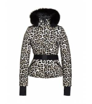 Goldbergh Wild W Ski Jacket Faux Fur Leopard bunda