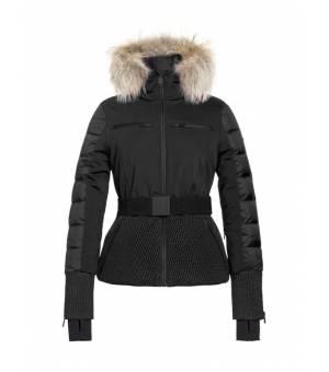 Goldbergh Stylish W Jacket Real Arctic Raccoon Fur Black bunda