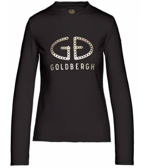 Goldbergh Chain Longsleeve Top Black tričko s dlhým rukávom
