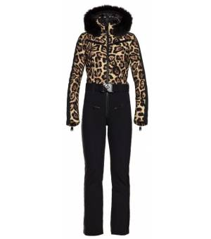 Goldbergh Lynx Ski Suit Real Fox Fur Jaguar W overal