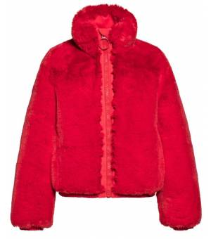 Goldbergh Silverfox W Jacket Ruby Red W bunda