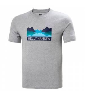 Helly Hansen Nord Graphic M T-shirt tričko sivé