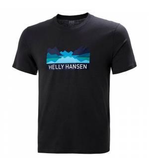 Helly Hansen Nord Graphic M T-shirt tričko čierne