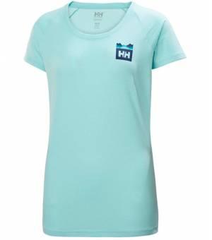 Helly Hansen Nord Graphic T-Shirt Tričko Tyrkysové