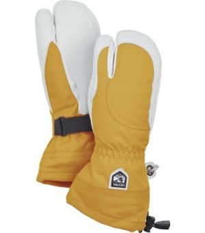 Hestra Heli Ski Female 3 Finger Mustard/Offwhite rukavice