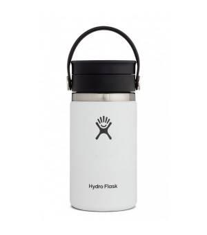 Hydro Flask 12 OZ Wide Mouth W Flex Sip Lid White fľaška