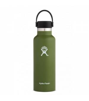 Hydro Flask 18 OZ Standard mouth With Flex Cap Olive fľaška
