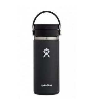 Hydro Flask 16 Oz Wide Mouth W Flex Sip Lid Black fľaška