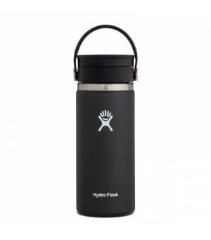 Hydro Flask 16 Oz Wide Mouth W Flex Sip Lid Black fľaša
