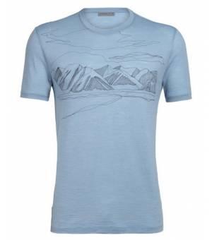 Icebreaker Mens Spector SS Coronet Peak Crewe waterfall tričko
