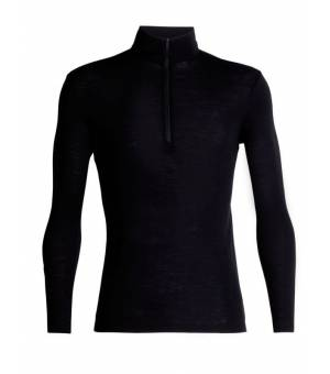 Icebreaker M 175 Everyday Ls Half Zip Thermal Top Black rolák